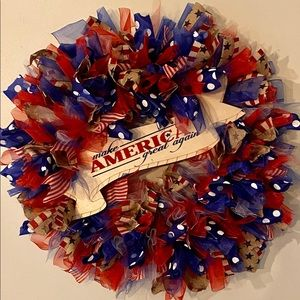 "USA Wreath 27"" in diameter & 6"" in depth"